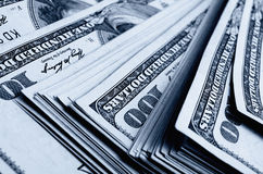 Lots of one hundred of dollar bills. Royalty Free Stock Photography