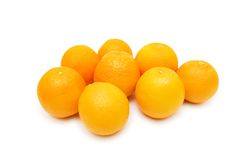 Lots of oranges isolated on the white Royalty Free Stock Images