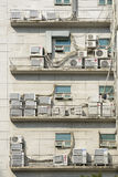 Lots of Outdoor Unit of Airconditioner Stock Photography