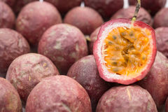Lots of passion fruit Royalty Free Stock Photo