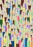 Lots of pencils. Illustration of  lots of colored pencils Stock Image