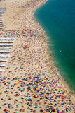 Lots of people at the beach Stock Photography