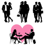 Lots of people - couple, vector set Stock Photos