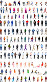 Lots of people illustrations Stock Images