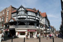 Chester Rows, Eastgate Row, Chester, Cheshire, UK royalty free stock photography