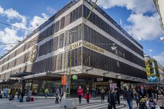 Ahlens City, a department store, Stockholm, Sweden royalty free stock photography