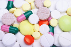 A lots of pills Royalty Free Stock Image