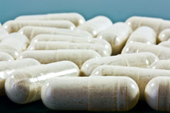 Lots of capsules  Royalty Free Stock Images