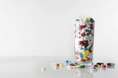 Lots of pills to be taken Stock Photography