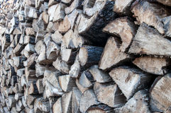 Lots of pine logs. Wood for fireplaces, lots of pine logs Stock Image