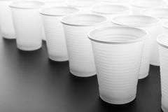 Lots of plastic drinking glasses Stock Images