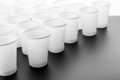 Lots of plastic drinking glasses Royalty Free Stock Photography