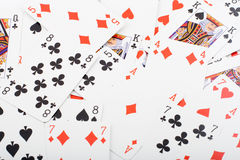 Lots Playing Cards Royalty Free Stock Photos