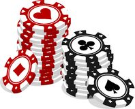 Lots of poker chips stock illustration
