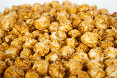 Lots of popcorn balls with sugar Stock Image