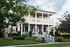 Lots of Porches. Lovely home with porches up and down Royalty Free Stock Images