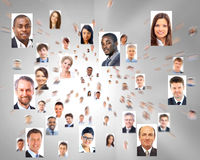 Lots of portraits of business people Royalty Free Stock Photos