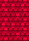 Lots of red skulls. Vector illustration of red skulls in a repeat pattern Stock Photography
