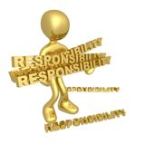 Lots of responsibilities. Person with lots of responsibilities Stock Photography
