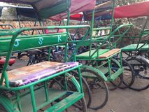 Lots of rickshaw Royalty Free Stock Photos
