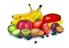 Lots of ripe fruits together Royalty Free Stock Photo
