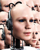 Lots Of Robo Women 4. An image of lots of heads of technologically robotic women, it would make a interesting background Stock Photography