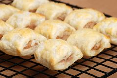Lots of sausage rolls Stock Photography