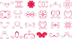 Lots of scroll shapes Royalty Free Stock Photos