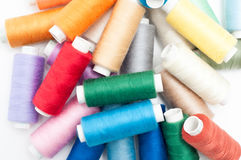 Lots of sewing threads Royalty Free Stock Photos