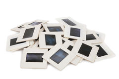 Lots of slides 4. Lots of slides on a white background 4 Stock Photos