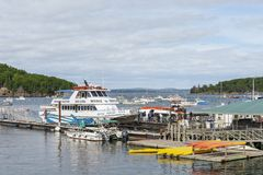 Lots of small boats in Bar Harbor Stock Image