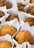 Lots of small muffin cakes Royalty Free Stock Photos