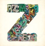 Wooden letters Z Royalty Free Stock Photo