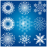 Lots of snowflake. Designs winter christmas elements Royalty Free Stock Photography