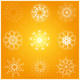 Lots of snowflake. Designs winter christmas elements Royalty Free Stock Images