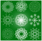 Lots of snowflake. Designs winter christmas elements Stock Images