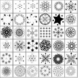 Lots of snowflake. Vector -designs winter christmas elements Stock Image