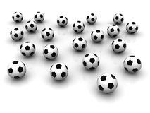 Lots of soccer balls Royalty Free Stock Image