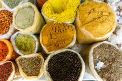 Lots of Spices for Sale. Lots of Different Spices for Sale at the Market Stock Photos