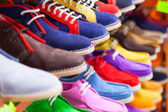 Lots of sport shoes. At  shop Stock Image