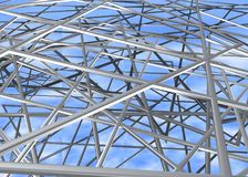Steel metal rods /structure. Lots of steel metal rods /structure Stock Photos