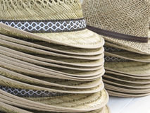 Lots of straw hats Royalty Free Stock Photos