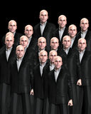 Lots Of Suited Men 3. An conceptual image of a crowed of identical men Royalty Free Stock Photos