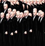 Lots Of Suited Men. An conceptual image of a crowed of identical men Stock Photos