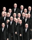 Lots Of Suited Men 4. An conceptual image of a crowed of identical men Stock Images