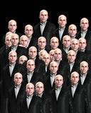 Lots Of Suited Men 5. An conceptual image of a crowed of identical men Royalty Free Stock Photography