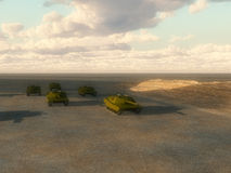 Lots Of Tanks. A multitude of tanks for war concepts Stock Photography