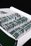 Lots of tea-bags arrange in box Royalty Free Stock Images