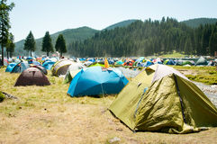 Lots of tents Royalty Free Stock Photography