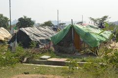 Lots of tents in slums Royalty Free Stock Images